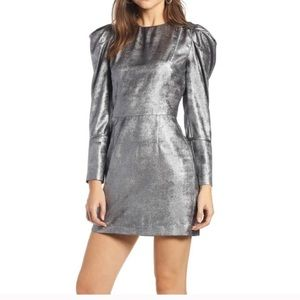 NWT Something Navy foil minidress